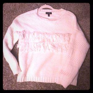 Jessica Simpson fringe white sweater